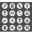 engineering simply icons vector image vector image