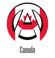 flag of canada of the world in the form of a sign vector image vector image