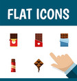 flat icon bitter set of sweet bitter delicious vector image vector image