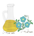 flaxseed essential oil vector image