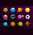 funny galaxy concept cartoon colorful fantasy vector image