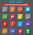 gadget icons set vector image vector image