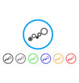 gear mechanism rounded icon vector image vector image