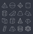 geometric shapes collection vector image vector image