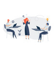 group people characters are thinking over an vector image vector image