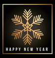 happy new year golden snowflake christmas festive vector image vector image