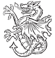 heraldic dragon no6 vector image vector image