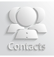Icon contacts vector image vector image
