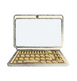 isolated portable laptop vector image