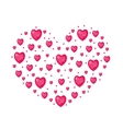 Jewel Heart shaped Valentines day love romance vector image vector image