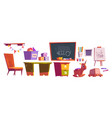 kids playroom or school furniture and equipment vector image