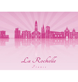 La Rochelle skyline in purple radiant orchid vector image vector image
