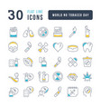 line icons world no tobacco day vector image