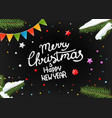 merry christmas and happy new year wishing card vector image
