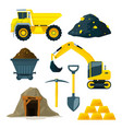 mining industry at different vector image vector image