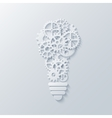 modern concept light bulb and mechanism vector image vector image