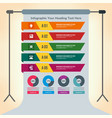 multiple infographics presenting information vector image