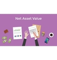 net asset value nav with business man vector image vector image