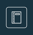 Notebook icon line symbol premium quality