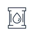 oil barrel ecology environment icon linear vector image