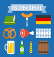 oktoberfest icon and elements vector image