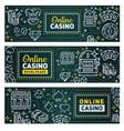online casino poker wheel fortune jackpot vector image vector image