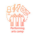 performing arts camp concept icon artistic