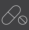 pills line icon medicine and healthcare vector image vector image