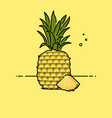 pineapple with slice in the side vector image