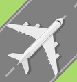 plane on landing strip vector image vector image