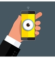 Privacy concept Big brother vector image