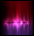 purple-red wide wave abstract equalizer vector image vector image