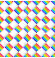 rainbow square mosaic seamless pattern vector image vector image