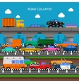 Road Collapse Background vector image