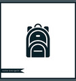 rucksack icon simple vector image vector image