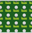 seamless background design with golf ball detail vector image vector image