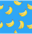 seamless pattern of yellow bananas vector image vector image