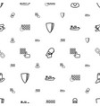 security icons pattern seamless white background vector image vector image