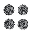 set circle fingerprint icons design for app vector image vector image