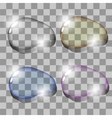 Set of Colorful Water Drops vector image vector image