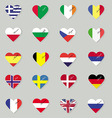 Set of original flags of the countries of Europe vector image vector image