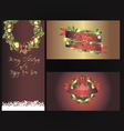 Set of three separated christmas banners vector image vector image