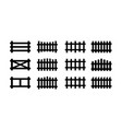 sey black picket fence symbols and signs vector image vector image