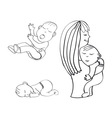 sleeping child crying baby vector image
