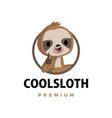 sloth thumb up mascot character logo icon vector image vector image