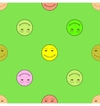 Smile happiness sign on green background vector image