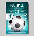 soccer poster banner advertising sport vector image
