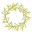 spring wreath with mimosa flower vector image vector image