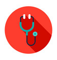 stethoscope circle icon vector image vector image