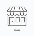 store flat line icon outline vector image vector image